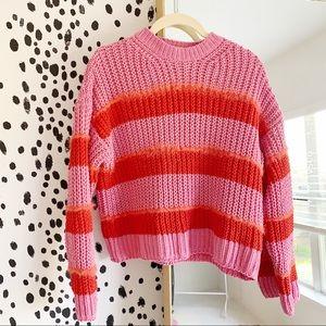 Bershka Pink & Red Sweater size XS